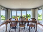 Dining Area with Sweeping Ocean Views, Sliders to Large Deck