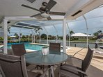 Covered outdoor seating on Pool Deck/Lanai