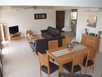 The Open plan living area – Fully Air Conditioned