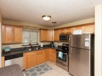 Kitchen: All new stainless steel appliances and everything else you need!