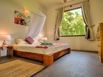bedroom with countryside view
