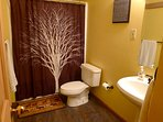 Basement Level Bathroom with Tub/Shower