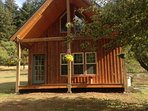 Front of the 2 bedroom cabin