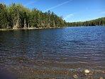 Pristine clear water private lake.