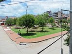 This is parque San Borja, in front of our house. It has a  pleasant microclimate.