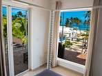 Ocean view from the Bedroom, canopy bed