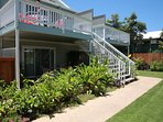 This apartment is on the bottom left with it's own private, covered lanai/deck