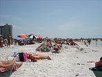Beautiful famous white sand Clearwater Beach.