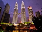 Only a 10min walk to the iconic Petronas Twin Towers or 5 mins by car...
