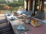 Breakfast on the terrace.