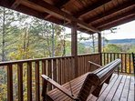 Enjoy the wonderful mountain views and fresh air off the back porch!