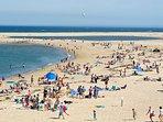 beach 5-10-mins away
