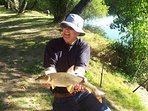 Onsite fishing from to dusk on half a kilometer of our river frontage. CatchCarp, barbel, black bass