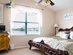 Master bedroom overlooks Lake Thomas