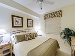 Guest room 1 with a king bed and flat screen tv...perfect for couples traveling