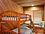 Kids will love the fifth bedroom that offers 2 twin-over-twin bunk beds.