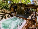 Relax in the hot tub at Silverleaf.