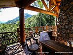 Have a refreshing drink at the deck bar at Red Stag Lodge.