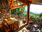 Enjoy a meal out on the deck and take in the beautiful mountain views.