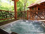 Relax from a long day of mountain adventure in the soothing hot tub.