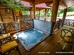 Enjoy the company of friends and family in the hot tub at Red Stag Lodge.