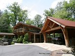 A perfect mountain retreat, including multiple large decks, outdoor fireplace, outdoor hot tub, game room, DirectTV...