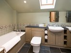Time main bathroom with bath and separate shower