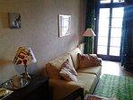 soggiorno con letto divano nuovo