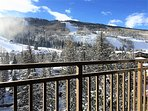 View of the ski mountain from our balcony