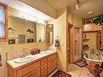 Take a bubble bath in this traditional tub!