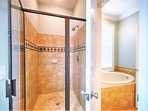 3rd Floor Master King Suite with Private Bath feat. Jacuzzi Tub and Walk-In Shower