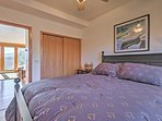 The plush queen-sized bed in the bedroom will help you sleep victoriously each night.