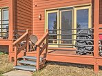 The private furnished deck includes a gas grill to whip up more savory dishes.