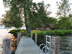View of house from Front Dock (great for swimming access, views and fishing; no boat docking) ©2015