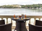 breakfast at Sea Weed Villa is included and served on your private veranda