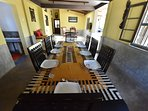 our dining are which can accommodate 12 to 15 guests