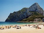 The nearby sandy beaches at Calpe.