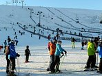 Go skiing at the Lecht Ski centre - just 30min by car