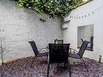 Courtyard seating
