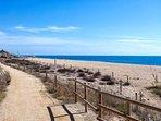 Paseo del mar que comunica Canet de mar, Arenys y Sant Pol