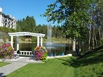 A picturesque view awaits, just steps from condo, on the walk to Okanagan Golf Club and restaurants
