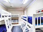 1st Floor Bunk Room with 3 Sets of Twin Bunk Beds and 2 Trundle Beds Sleeps 8
