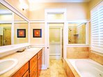 3rd Floor Master King Suites Private Bath feat. Walk-In Shower and Jacuzzi Tub
