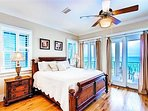 3rd Floor Master King Suite with Private Bath and Balcony Overlooking the Beach