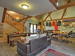 This unique vacation rental barn is the perfect place to gather - no shortage of space!