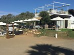 Beach Bar on beach near villa