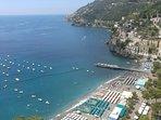 Vista dalla stanza da letto su Minori e sulla Costiera Amalfitana