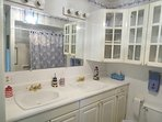 First Floor Bathroom With Tub/Shower and Double Sinks - 265 Chatham Road Harwich Cape Cod New England Vacation Rentals