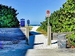 Walk 50 steps to the end of the block to enjoy the magnificent white sands of Clearwater Beach.