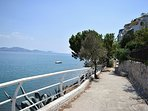 Foot path front of Vacation beach  Apartments drive to Kiveri viallage close to Nafplion